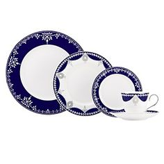 Marchesa by Lenox Empire Pearl Dinnerware, Indigo | Bloomingdale's