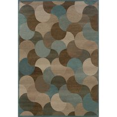 The spa blue and cool earthy neutrals of this soft, contemporary rug provide the perfect backdrop for your home's decor. This area rug is machine woven of polypropylene, incorporating high-twist and t