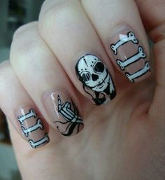 Awesome day of the dead nails!