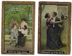Two Old Romantic Vintage Postcards 1910 and 1911