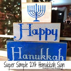 Sowdering About: Put on your Yarmulke! Super simple Hanukkah Sign (a Silhouette . - Pauline Jox Home Happy Hannukah, Hanukkah Crafts, Jewish Crafts, Feliz Hanukkah, Hanukkah Decorations, Hanukkah Menorah, Christmas Hanukkah, Christmas Signs, Holiday Crafts