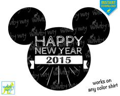 disney 2015 happy new year printable iron on or use as disney clipart by thewallabyway