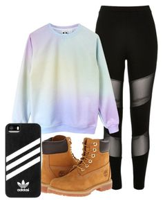 """Untitled #132"" by sydwright17 ❤ liked on Polyvore featuring River Island, Timberland and adidas"