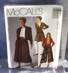 1991 Uncut  McCalls Pattern 5618 Misses by lovelylovepatterns, $4.50