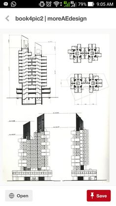 Plan, elevation, section ... Nakagin Tower