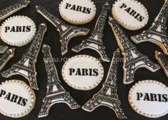 Eiffel Tower Paris Cookies - Royal Icing Queen