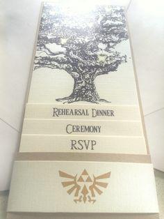 Best kind of nerdy! Legend of Zelda Wedding Invites!