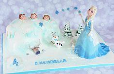 Gâteau la reine des neiges/ Frozen cake