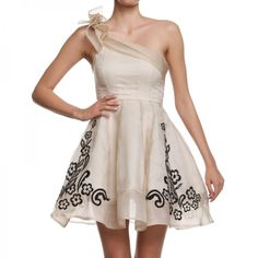 Now available in our online store and Mangano.   Dress Flambee Champagne.   http://shop.mangano.com/it/17239-abito-flambee-champagne.html