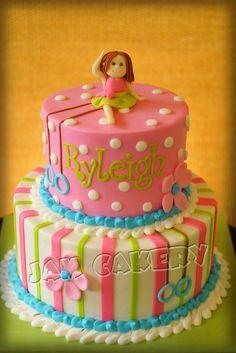 Gymnast Birthday Cake   J.A.M. Cakery