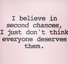 Second chances...?
