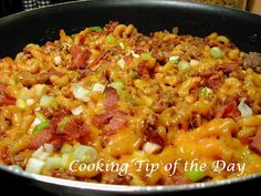 Cooking Tip of the Day: Recipe: Sweet and Tangy BBQ Beef and Mac Skillet