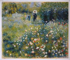 Summer Landscape (Woman with a Parasol in a Garden) by Pierre-Auguste Renoir