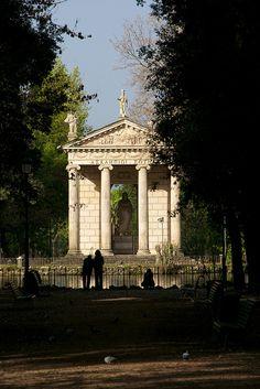 Temple in the Villa Borghese Gardens, via Flickr.