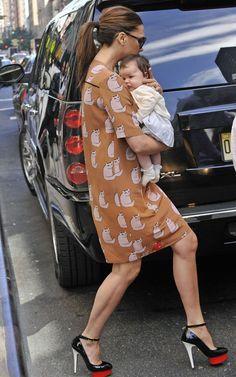 Victoria Beckham with baby Harper
