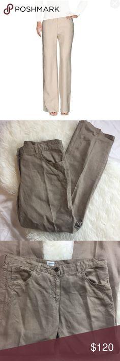Armani collezioni casual wide leg pants Armani collezioni casual wide leg linen pants. In good condition. Armani Collezioni Pants Wide Leg