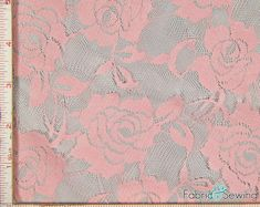 This item is unavailable   Etsy Gold Lace Fabric, Stretch Lace Fabric, Pink Lace, Floral Lace, Dusty Rose, Dusty Pink, Big Flowers, Embroidered Lace, Swatch