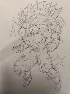 Dessin : Son Goku (Kakarotto) Super Saiyajin 3