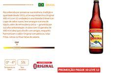 Cerveja Antarctica Original 600ml Caixa Com 12 Unidades << R$ 4990 >>