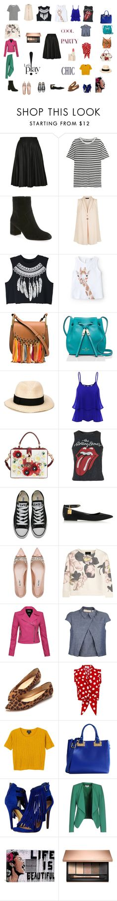 """""""Untitled #113"""" by mariela-hayoon on Polyvore featuring Topshop, T By Alexander Wang, Rebecca Minkoff, New Look, WithChic, MANGO, Chloé, Kate Spade, Eugenia Kim and Dolce&Gabbana"""