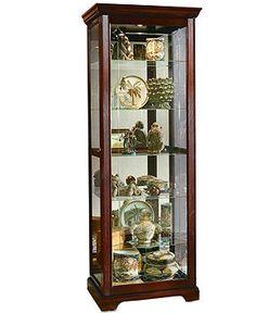 Sliding Door Curio Cabinet - Dining Room Furniture - furniture - Macyu0027s