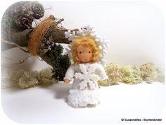 Schneeflöckchen Blumenkinder Jahreszeitentisch von Susannelfes Blumenkinder  auf DaWanda.com