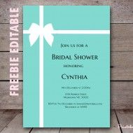 Tiffany and Co Bridal Shower Ideas Themes - Brautparty Ideen Printable Bridal Shower Games, Baby Shower Printables, Bridal Shower Invitations, Shower Favors, Birthday Invitations, Shower Party, Party Printables, Tiffany Und Co, Tiffany Birthday Party