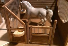 Some model horse barns/stalls look just as nice as actual real horse stalls. Like that detail is impeccable. Toy Horse Stable, Horse Stalls, Horse Barns, Breyer Horses, Horse Stuff, Stables, Lion Sculpture, Pure Products, Detail