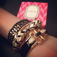 Love this arm party of Stella & Dot bracelets!