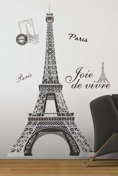 Eiffel Tower Paris Wall Decals