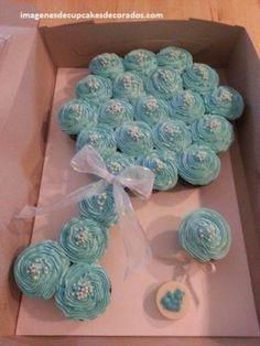 decoracion de cupcakes para baby shower figuras