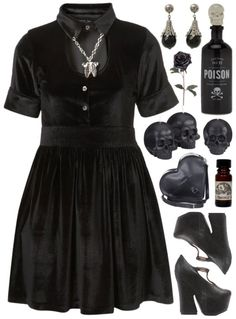 Little black gothic dress. I would love this dress!