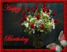 Happy Birthday Flowers Gif, Happy Birthday Quotes For Her, Happy Birthday Wishes Images, Happy Birthday Cupcakes, Birthday Roses, Happy 2nd Birthday, Happy Birthday Balloons, Happy Birthday Greetings, Birthday Gifs