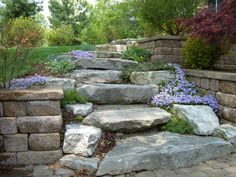 Landscape Steps How To Build Stairs On A Slope Wooden Hill Into Hillside Backyard Ideas Simple Patio Designs Cheap Deck Small Shed Landscaping On A Hill, Stone Landscaping, Modern Landscaping, Outdoor Landscaping, Landscaping Ideas, Sloped Backyard, Sloped Garden, Landscape Stairs, Outdoor Steps