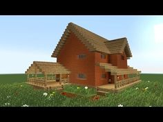 MINECRAFT: How to build big wooden house #2