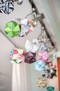 Great video tutorial for making origami spheres of any size.