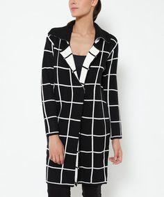 Look what I found on #zulily! Black Grid Button-Up Jacket #zulilyfinds