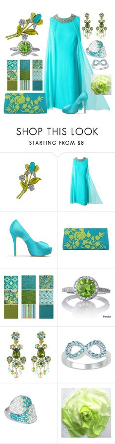 """Serafina In Tiffany Blue"" by yournightnurse ❤ liked on Polyvore featuring Azules, NOVICA, Oscar de la Renta, Journee Collection and Seraphina"