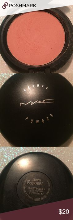 MAC Beauty Powder Sunny Surprise I'm a Makeup Artist purging makeup I don't reach for.  Here is an authentic ☀️MAC Beauty Powder in Sunny Surprise ☀️ From the Flamingo Park collection  Like new, Lots of wear left. Only swatched. •THIS IS AUTHENTIC. MAC Cosmetics Makeup Face Powder