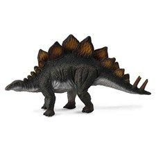 CollectA's replica of the armored Stegosaurus is lifelike down to each bony plate on its spine and tail. The plant-eating dinosaur lived in the Late Jurassic Period in western North America. Specimens have also been found in Portugal. The well-known dinosaur grew to be approximately 30 feet in length.  Each prehistoric figure in the CollectA collection has been approved by archeologist Anthony Beeson, a well-respected expert in paleoimagery. All CollectA models are individually hand crafted…
