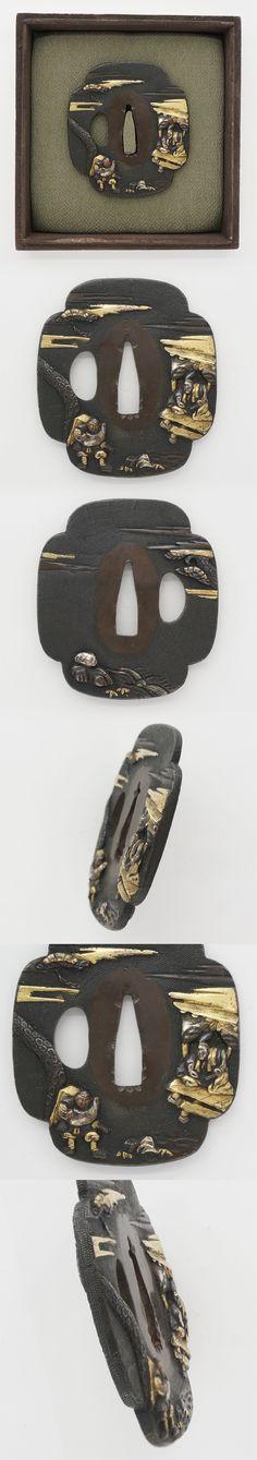 Tsuba: mumei Samurai   Japanese Sword Shop Aoi-Art.