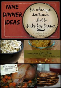 You know that feeling you get when you have NO idea what you're going to make for dinner? Here are 9 ideas... so you can skip the drive-through! // Once Upon a Time in  Bed of Wildflowers