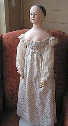Papier mache doll Voit Pauline type dirca 1840.