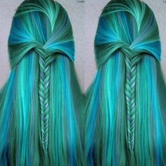 Mermaid hair color & style