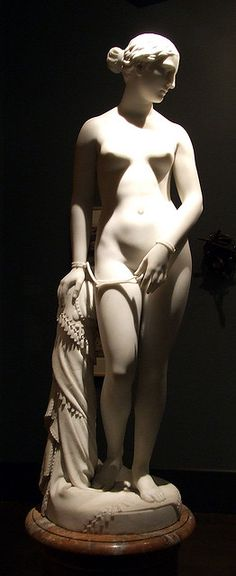 'The Greek Slave' by American sculptor Hiram Powers Marble, x x in. via the Brooklyn Museum; Stone Sculpture, Sculpture Art, Carpeaux, Steinmetz, Chef D Oeuvre, Greek Art, Ancient Greece, American Art, Les Oeuvres
