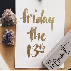 Friday the 13th by @jeckaaa #designspiration #creative #design #lettering - View this on http://ift.tt/1LVCgmr