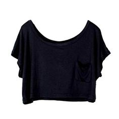Chadwick Design Marketing: Amazon Affiliate | Etosell Lady Casual Short Batwing Sleeve Loose T-Shirts Crop Tops