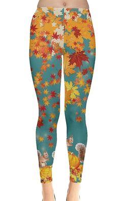 Clothes Autumn Brown - Women's Clothing, Leggings, Brown Autumn Autumn Warm Maple Leaves Legging Floral Leggings, Printed Leggings, Women's Leggings, Colorful Leggings, Best Leggings For Women, Gothic Leggings, Black And White Shorts, Leggings Fashion, Fashion Outfits