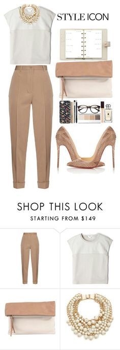 Business chic featuring Bottega Veneta, Helmut Lang, Pietro Alessandro, Kate Spade, and Christian Louboutin Business Casual Outfits, Professional Outfits, Business Attire, Office Outfits, Mode Outfits, Business Fashion, Classy Outfits, Chic Outfits, Fashion Outfits