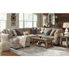 pantomine driftwood 4 pc laf chaise sectional